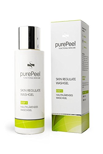 Klar Reinigungsschaum (purePeel Skin Regulate Washgel 1 x 100 ml / Gesichtsreinigung / Klärendes Waschgel mit BHA Salicylsäure / erfrischt und belebt für ein klares Hautbild bei Mitessern, Blackheads, Pickeln & Pusteln)