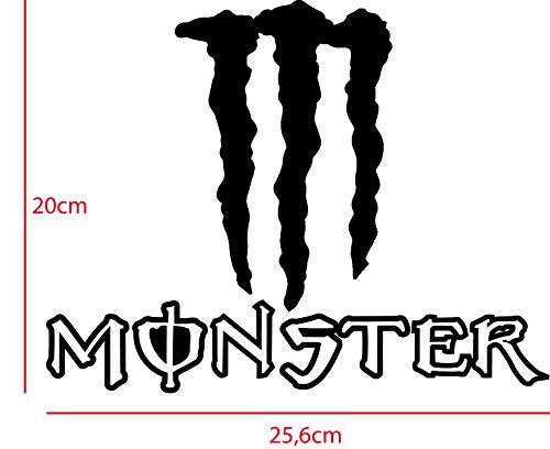 Monster Energy Aufkleber 25,6 x 20cm in verschiedenen Farben möglich, freistehender Aufkleber