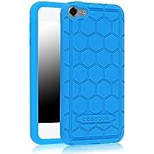 Fintie iPod Touch 6 Funda - [Honey Comb Series] Ligera Case Cover Carcasa Protectora de Silicona para Apple iPod Touch 6 6ª Generación, Azul
