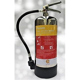 6Liter Schaum-Feuerlöscher, poliertes Chrom Premium Marke mit 5Jahre waaranty