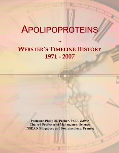 Apolipoproteins: Webster's Timeline History, 1971-2007