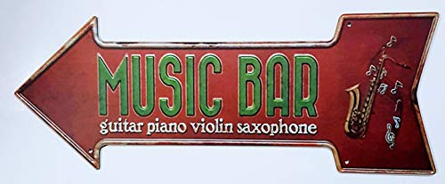 MI RINCON Cuadro Flecha Vintage Music Bar Decorar