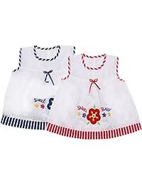 Littly Baby Girls' Cotton Midi Dress (Pack of 2)
