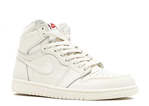 Nike Air Jordan 1 Retro High Og, Scarpe sportive Uomo Sail/University Red