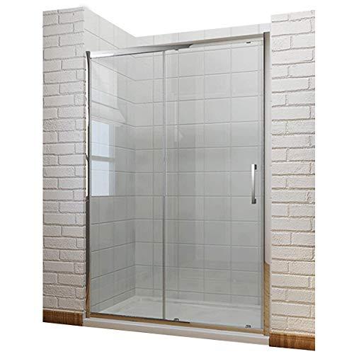 Schiebetür Duschabtrennung 140x190cm Duschtür Duschwand aus 8mm NANO Sicherheitsglas