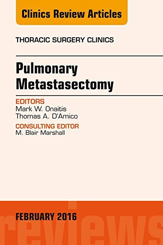 Pulmonary Metastasectomy, An Issue Of Thoracic Surgery Clinics Of North America, E-book (the Clinics: Surgery) por Mark W. Onaitis epub