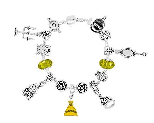 Belle Disney-Prinzessinnen inspirierten Charm-Armbänder Bettelarmbander für Mädchen  (Belle-schmuck Disney Princess)