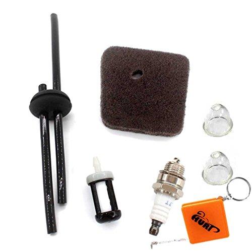 Preisvergleich Produktbild HURI Zündkerze + Luftfilter + Benzinfilter + Benzinschlauch Passend für STIHL FC55 FS38 FS45 FS46 FS55 HS45 KM55 HL45 Rasentrimmer 4140 124 2800