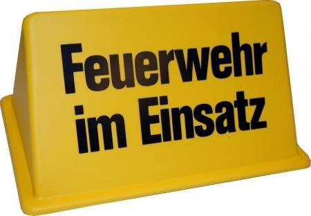 """Dachaufsetzer """"Feuerwehr im Einsatz"""" in gelb/schwarz"""