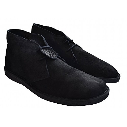 Pretty Green Desert Boots in Black
