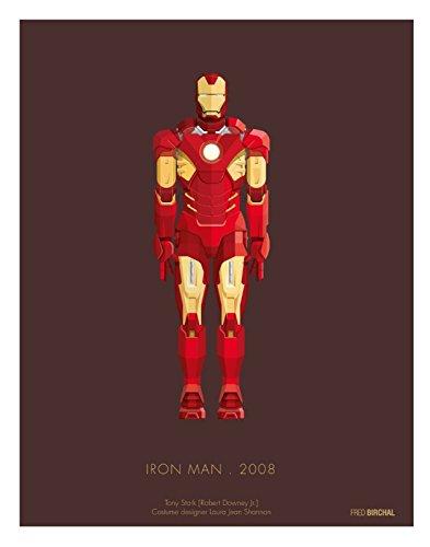 Gemälderrahmen, Motiv: Iron Man 2008 Kostüm, 300 g/m², Papier Schauspieler Tony Stark Poster with Frame But Without Mount