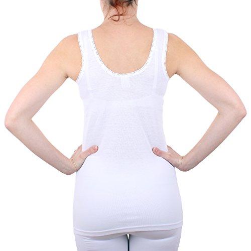2er Pack Damen Hemd mit Spitze Feinripp aus 100% Baumwolle (Unterhemd, Oberteil) Nr. 327/0011 - 3