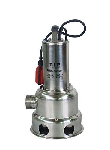 T.I.P. 30171 Schmutzwasser Tauchpumpe Edelstahl Extrema 500/13 PRO, bis 30.000 l/h Fördermenge -