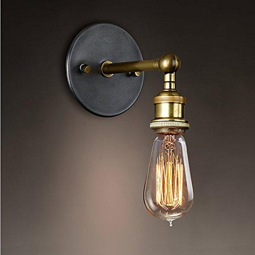 YUNWEI Retro Classic Bar Lampen/Fashion Flur Schlafzimmer Bett Massiv Messing Wandlampe - Schlafzimmer Messing Bett