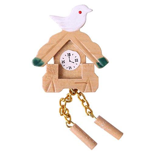 MagiDeal Miniatur Friedenstaube Vogel mini Kuckucksuhr Garten Dekoration für 1:12 Puppenstuben Puppen