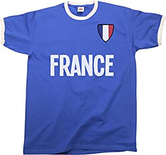 2347d4b03 Football Clothing Retro French Football Ringer Shirt Tee Men World Cup  France Vintage 2018 Russia Top ...