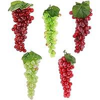 B Blesiya 5 unds Fruta Colgante en Cocina Uva negra Decor de Casa hogar de espuma