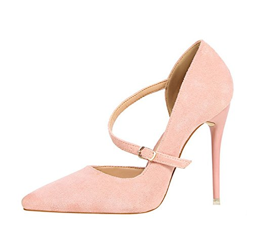 Xinjing-s Bowknot High Heels Chaussures De Mariage Partie Femmes Talons Ol Pompes Robe Chaussures Rose Sandales