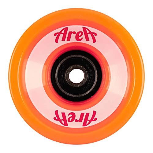AREA Unisex Jugend Longboard Wheels 69x55mm, Orange