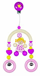 Heimess 734240 Wooden Mini Trapeze Clip On Mobile (Princess)