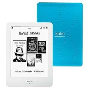 """Kobo Glo N613-KBO-U 6"""" eReader (White & Blue)"""