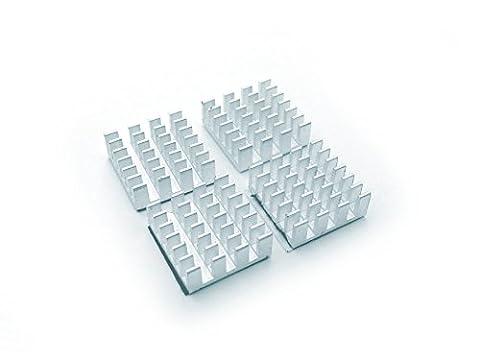 Lot de 4aluminium RAM Refroidisseur VGA/HEATSINK 15x 15mm
