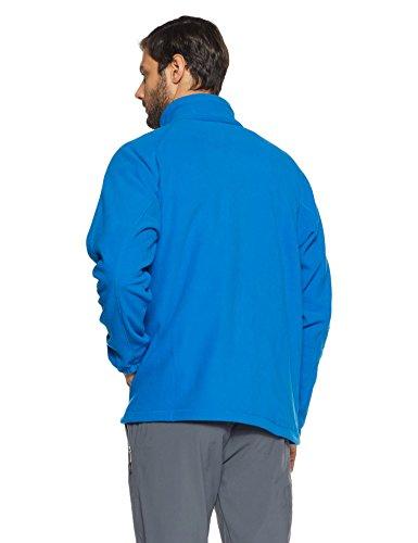 Columbia Herren Fleecejacke, mit durchgehendem Reißverschluss, Fast Trek II Full Zip Fleece, Microfleece Polyester, dunkelblau/dunkelgrau (super blue/graphite), Gr. S, AM3039 - 2