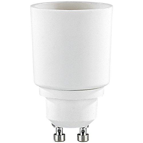 E27 Gu10 Led (Lunartec GU10 Lampen-Adapter: Lampensockel-Adapter Adapter GU10 auf E27, 4er-Set (LED GU10 Fassungen))