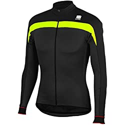 Sportful - Pista Thermal Jersey, color amarillo,negro, talla L