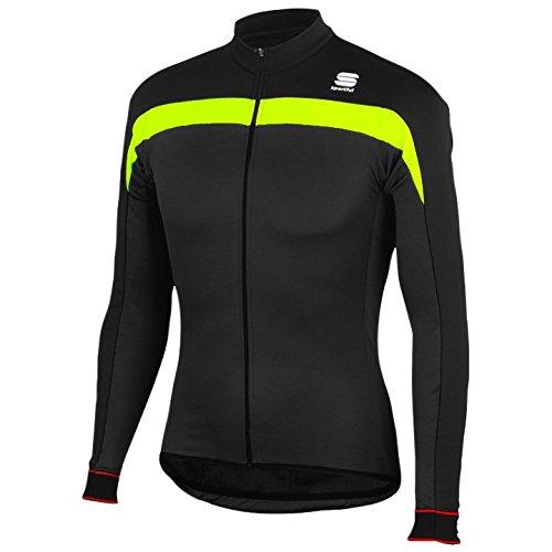 Sportful - Pista Thermal Jersey, color amarillo,negro, talla L
