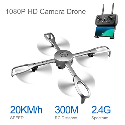 Mitlfuny RC Quadrocopter Drohne,Aititude Hold GPS Follow Me 1080P 90 ° Weitwinkel CAM RC Hubschrauber Faltbare ()