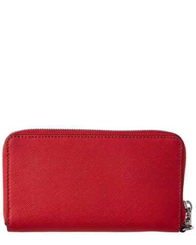 Michael Kors - Borsa Jet Set Travel Flat multifunzione da donna con cover per smartphone, porta carte e documenti, taglia unica Rosso