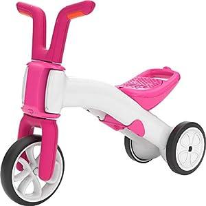 Chillafish BUNZI2 - Bicicleta de Equilibrio 2 en 1, Color Rosa