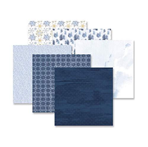 Creative Memories Frost Winter Verziertes Papier-Set für Frost Album-Serie, 12 Stück