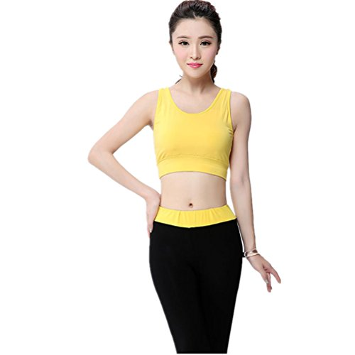 shiyuan Femme Sport Soutien-gorge de sport de yoga de fitness stretch pour femme jaune