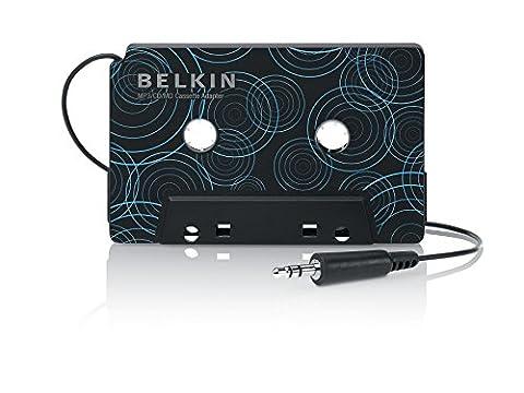 Belkin - Adaptateur Cassette avec Sortie jack 3,5mm pour Smartphone et Tablette - Noir