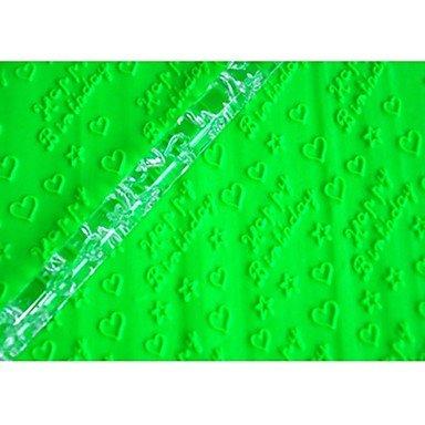 Werkzeuge Kuchen Rolling Pin Happy Birthday Cookie zu Tools Farbe transparent, 1Stück ()