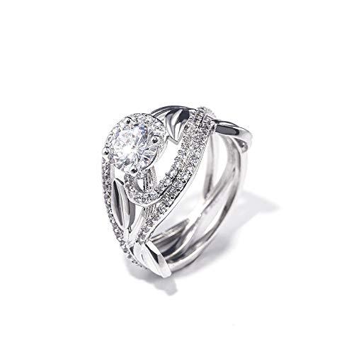 Ringe Für Ring Frauen Weinlese Solitaire Hochzeits Verlobungsring Mit Elegantem Stein 6