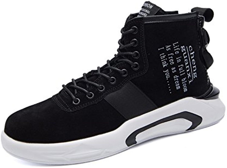 chaussures pour loisirs hommes feifei loisirs pour élevé au printemps et à l'automne à marée chaussures 3 couleurs (couleur: noi r, taille: eu43 / uk 9 / cn44) b078rlbbl9 parent 76bd02