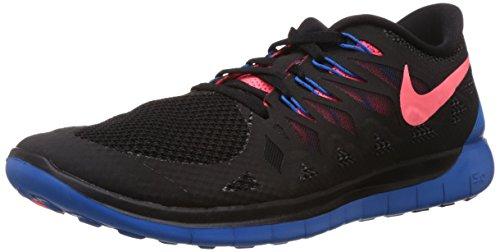 Nike Free 5.0 Herren Laufschuhe Schwarz (Black/Hyper Punch/Photon Blue/Anthracite 002)