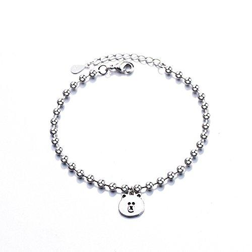 LaxBa Armbänder Koreanischer Tag der Frauen Südkorea Braune Bär Armband Niedliche Perlen Peeling Bär Armband Schmuck Cartoon Zubehör (Japan-peeling)