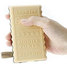 Reacher 8000mAh mini Banca di potere della batteria portatile del caricatore esterno con crema Cookies Design (giallo)