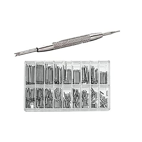 NUOLUX 6mm-23mm Stainless Steel Watch Band Link Pins Spring Bars Watch Pin Remover Tool Set