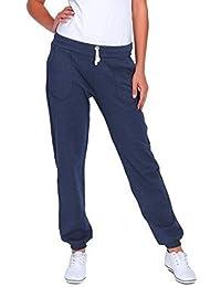 FUTURO FASHION Femmes Sport Longue Polaire Jogging avec poches côtelé Pantalons De Gymnastique Jogging DK