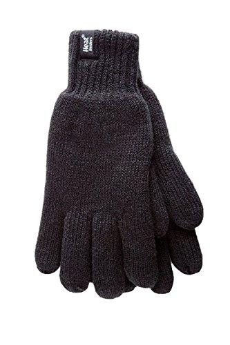 HEAT HOLDERS – Herren Thermische Winter-Vlies-Kabel Wollmütze, Nackenwärmer und Handschuhe gesetzt (L/XL, Schwarz) - 4
