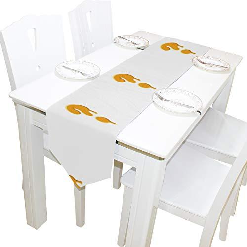 Yushg Fragezeichen Kreative Kommode Schal Tuch Abdeckung Tischläufer Tischdecke Tischset Küche Esszimmer Wohnzimmer Home Hochzeitsbankett Decor Indoor 13x90 Zoll