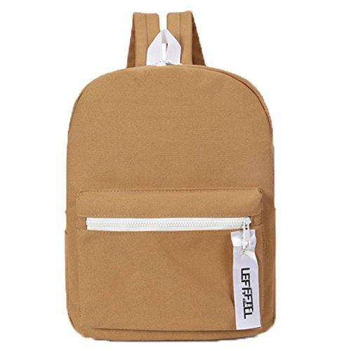 Ohmais Rücksack Rucksäcke Rucksack Backpack Daypack Schulranzen Schulrucksack Wanderrucksack Schultasche Rucksack für Schülerin brun