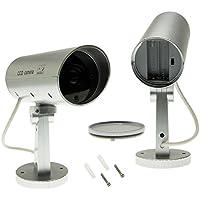 1x Überwachungskamera Attrappe Speed Dome Dummy Fake Cam LED Einbruchschutz Set