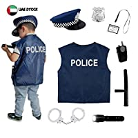 Kidroos Police Uniform Role Play for Kids Police Costume Toy Handcuffs