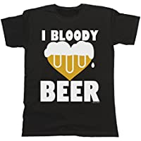 Uomo e Donna I Bloody Love Beer T-Shirt Mens Ladies Unisex Fit Funny - Love Beer